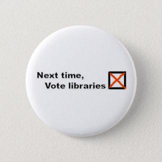 投票図書館のバッジ 5.7CM 丸型バッジ