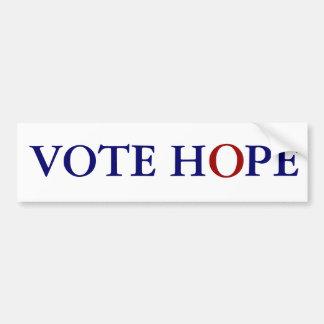 投票希望 バンパーステッカー
