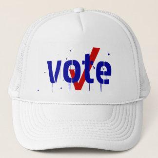 投票帽子のチェックマークの帽子の投票投票を出して下さい キャップ