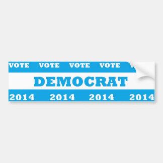 投票民主党員2014年- バンパーステッカー