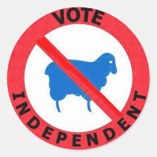 投票独立したヒツジの警告 ラウンドシール