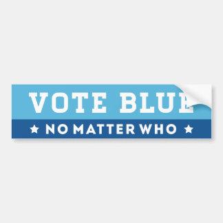投票青だれ バンパーステッカー