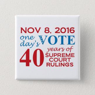 投票2016正方形ボタン 缶バッジ
