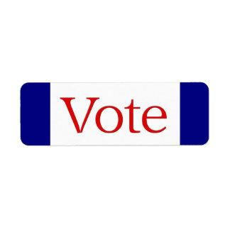 投票 返信用宛名ラベル