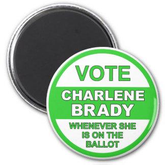 投票Charlene Brady マグネット