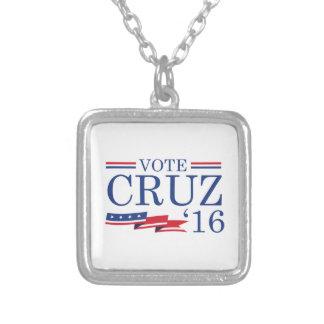 投票Cruz 2016年 シルバープレートネックレス