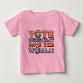 投票Demの保存世界 ベビーTシャツ