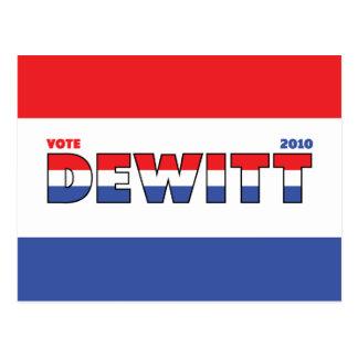 投票DeWitt 2010の選挙赤い白くおよび青 ポストカード