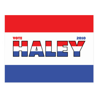 投票Haley 2010の選挙赤い白くおよび青 ポストカード