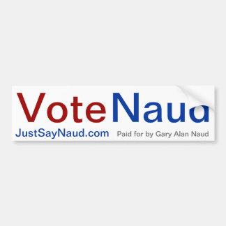投票Naudのバンパーステッカー バンパーステッカー