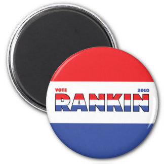 投票Rankin 2010の選挙赤い白くおよび青 マグネット