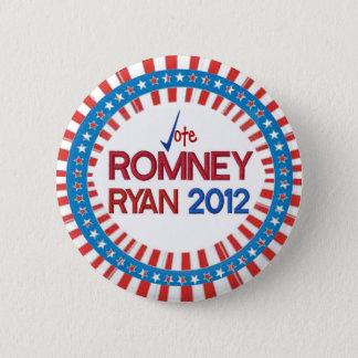 投票Romneyライアン2012は及びストライプなボタン主演します 5.7cm 丸型バッジ