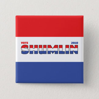 投票Shumlin 2010の選挙赤い白くおよび青 5.1cm 正方形バッジ