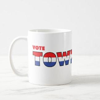 投票Townsend 2010の選挙赤い白くおよび青 コーヒーマグカップ