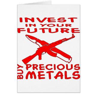 投資して下さいにあなたの未来の買物の貴金属(カラシニコフ自動小銃) カード