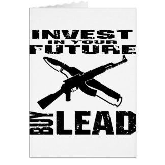 投資して下さいにあなたの未来の買物の鉛(カラシニコフ自動小銃) カード