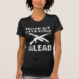 投資して下さいにあなたの未来の買物の鉛(カラシニコフ自動小銃) Tシャツ
