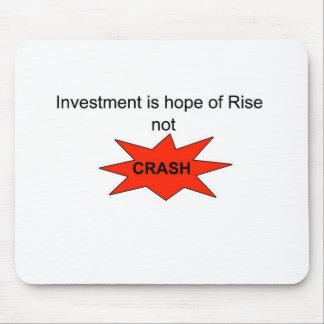 投資は上昇のない衝突の希望です マウスパッド
