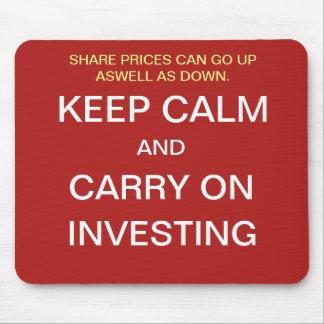 投資マネージャーのギフトのおもしろいな株式市場の引用文 マウスパッド