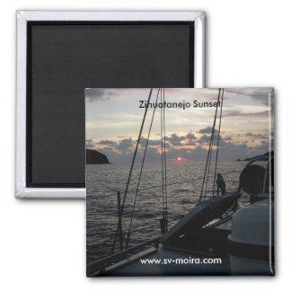 投錨のMoiraからのZihuatanejoの日没 マグネット