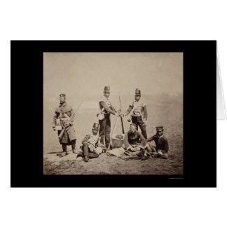 抗打ち工事はクリミア戦争1855年を武装させます カード