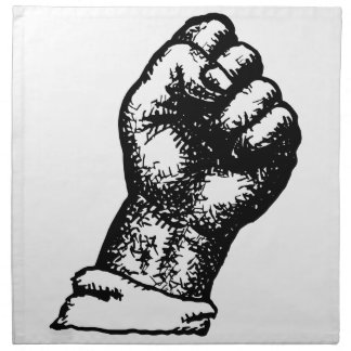 抗議の握りこぶし ナプキンクロス