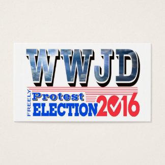 抗議の選挙2016 WWJDカード 名刺