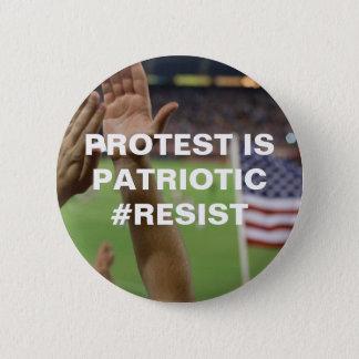 抗議は愛国心が強い抵抗です 5.7CM 丸型バッジ
