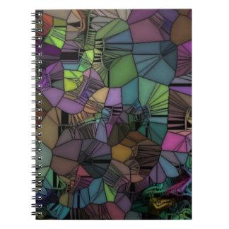 折られたガラス ノートブック