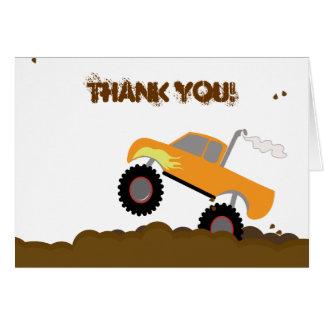 折られるモンスタートラックの誕生日はノート感謝していしています カード