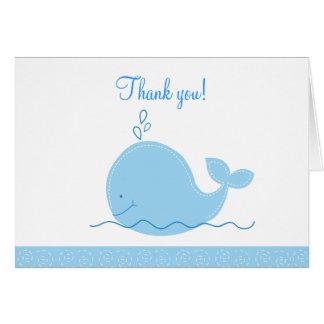 折られる小さいシロナガスクジラはノート感謝していしています カード