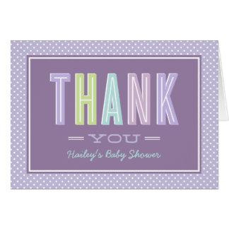 折られる注意しますシックな|にタイプインします紫色をありがとう ノートカード