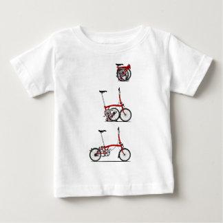 折るバイク ベビーTシャツ