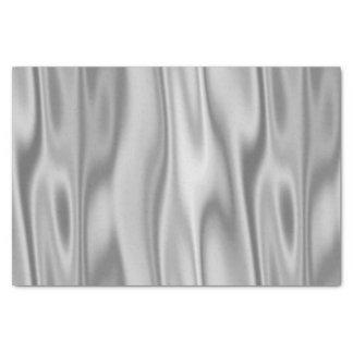 折目の灰色の模造のなサテンの生地 薄葉紙