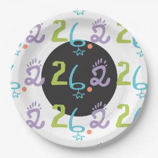 折衷的な26.2のマラソンの紙皿のパーティの供給 紙皿 大