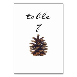 披露宴のテーブル数素朴なPinecone カード