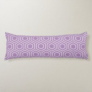 抱き枕-アフリカバイオレットの六角形パターン ボディピロー