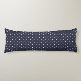 抱き枕-クラシックな濃紺の水玉模様 ボディピロー