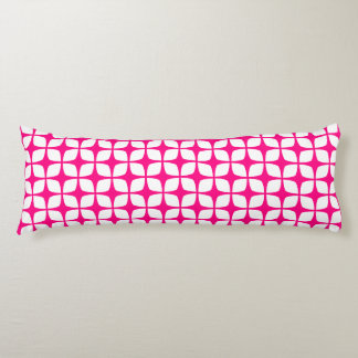抱き枕-ショッキングピンクの幾何学的設計 ボディピロー