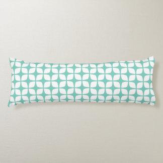 抱き枕-ターコイズの幾何学的設計 ボディピロー