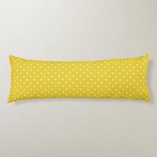 抱き枕-レモン色の水玉模様 ボディピロー