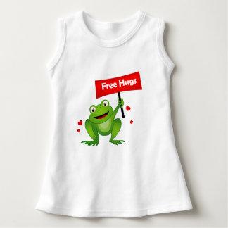 抱擁かわいいカエルを放して下さい ドレス