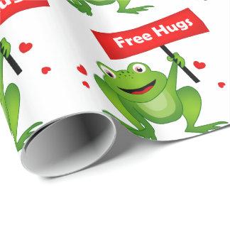 抱擁かわいいカエルを放して下さい ラッピングペーパー