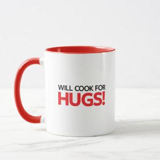 抱擁のために調理します マグカップ