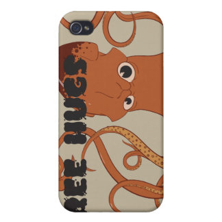抱擁イカのiphone 4ケースを放して下さい iPhone 4 カバー