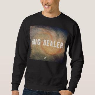 抱擁ディーラーの写実的で黒いスエットシャツ + 銀河系 スウェットシャツ