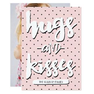 抱擁及びキス|のバレンタインデーの写真カード 12.7 X 17.8 インビテーションカード