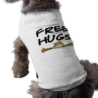 抱擁漫画猿犬のTシャツを放して下さい ペット服