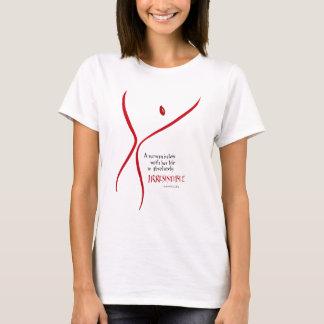 抵抗できない女性- Tシャツ