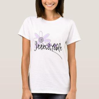 抵抗できない紫色の花 Tシャツ